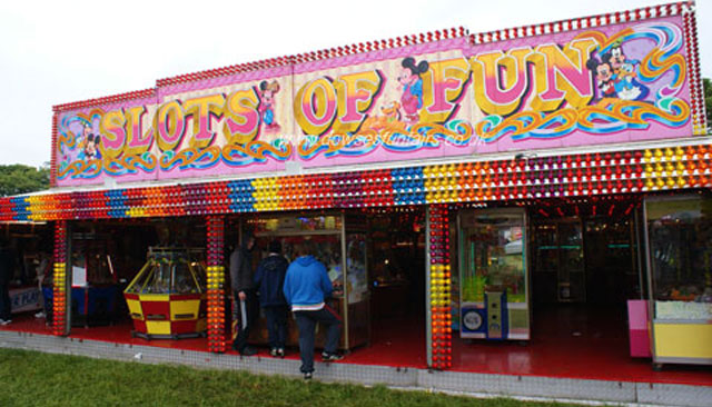 Amusement arcade for hire.